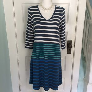 Hatley Knit Striped Shift Dress, Medium